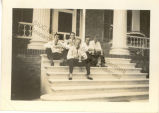 Caresse Crosby, Bert Young, Stuart Kaiser, Blair Cleveland, and William Peabody at Hampton Manor