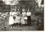 Caresse Crosby and others in Pietro's Garden in D.C.