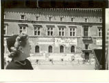 Caresse Crosby in Front of Facade