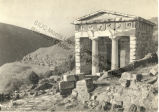 The Treasury of the Athenians in Delphi (Greece)