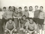 Caresse Crosby with Winning Soccer Team