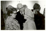 Caresse Crosby, R. Buckminster Fuller and Frances Steloff at a Party in 1968