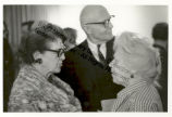 Caresse Crosby, Frances Steloff and R. Buckminster Fuller at a Party in 1968