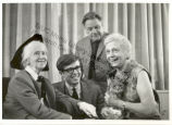 Frances Steloff, Marianne Moore, Andreas Brown and Lawrence Durell