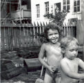 Jessica and Miranda Pratt in the Backyard