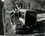 Children Playing on a Tractor