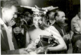 Katherine Dunham talking with man in Berlin