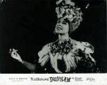 Advertisement with Katherine Dunham singing