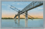 postcard featuring the Mississippi River Bridge