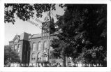Postcard of the Old Main building when Southern Illinois University Carbondale was Southern...