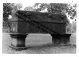 Sarcophagus at Woodlawn Cemetery in Carbondale, IL