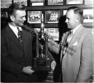 "Charles Mathieu and Glenn ""Abe"" Marlin (head coach of Southern Illinois University..."