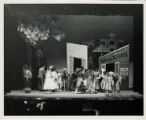 "Ballets de San Juan: stage action in front of ""cafe la defensa"""