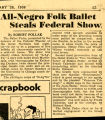 All-Negro Folk Ballet Steals Federal Show