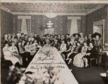 Woman's Club of Carbondale Fiftieth Anniversary Luncheon, 1946, with annotations