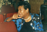 Maya Angelou sitting in an auditorium (2 of 3)