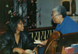 Marsha Kann and Lucille Clifton talking together