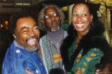 Askia Toure and two others smiling and laughing