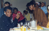 Maya Angelou and students