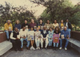 Eugene Redmond with a group of college students