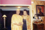 Eugene Redmond and Maya Angelou in her home