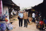 Eugene Redmond and Remi Raji at an Ibadan market