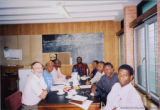 Francis Egbokhare and seven others at a table