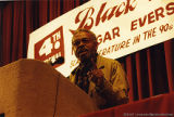 Amiri Baraka speaking at a conference (1 of 3)