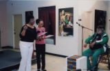 Darlene Roy and Mali Newman performing poetry