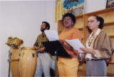Darlene Roy and Mali Newman accompanied by Selwyn Jones on drums