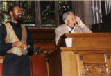 Amiri Baraka reading poetry in a church (1 of 3)