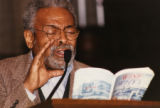 Amiri Baraka reading poetry in a church (2 of 3)