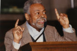 Amiri Baraka reading poetry in a church (3 of 3)