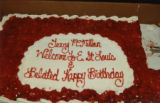 Welcome and birthday cake for Terry McMillan