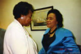 Maya Angelou and Coretta Scott King talking together