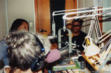 Eugene Redmond and Quincy Troupe giving a radio interview