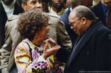 Cleo Laine and Quincy Jones talking together