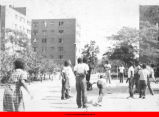 Children playing outside of Public Housing buildings