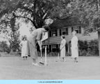 Croquet at Lilac cottage -- Mrs. Bowen's House at BCC
