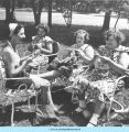 Women knitting and crocheting