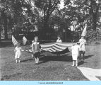 Children with large flag
