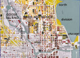 Major arterial roads of Chicago's Near North Side