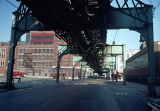 Elevated train tracks, North Franklin Street