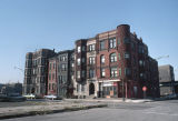 Nineteenth-century apartment buildings on North Franklin Street