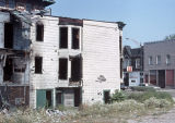 Burned-out building near North Ogden Avenue and West Blackhawk Street