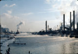 Indiana Harbor and Ship Canal, and Mobil Refinery, East Chicago