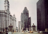 North Michigan Avenue with Wrigley Building, Tribune Tower, and Equitable Building