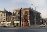 Ogden Avenue, commercial/ residential buildings