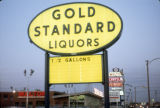 Gold Standard Liquors sign, Skokie