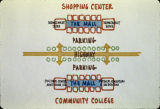 Shopping mall and community college site plans